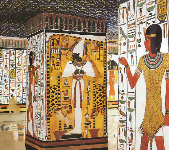 wall painting from Egyptian burial chamber