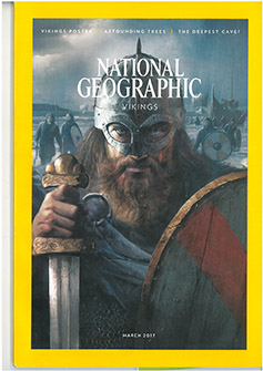 national geographic cover of a viking